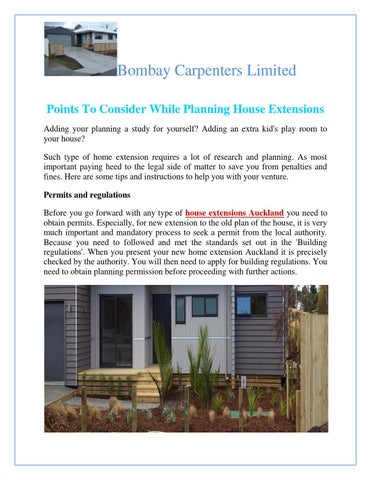 Good Bombay Carpenters Limited Points To Consider While Planning House Extensions  Adding Your Planning A Study For Yourself? Adding An Extra Kidu0027s Play Room  To ...