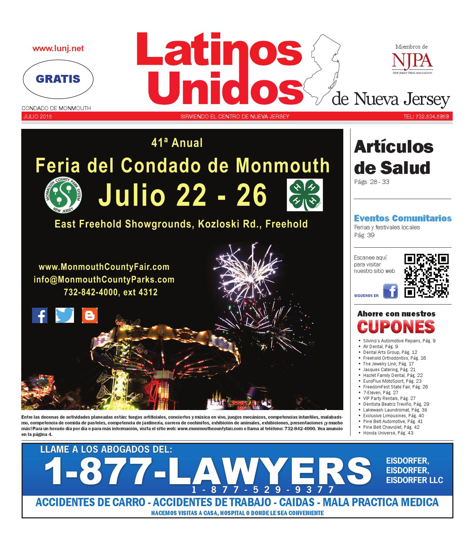 Monmouth Julio/July 2015 by Latinos Unidos de NJ - issuu