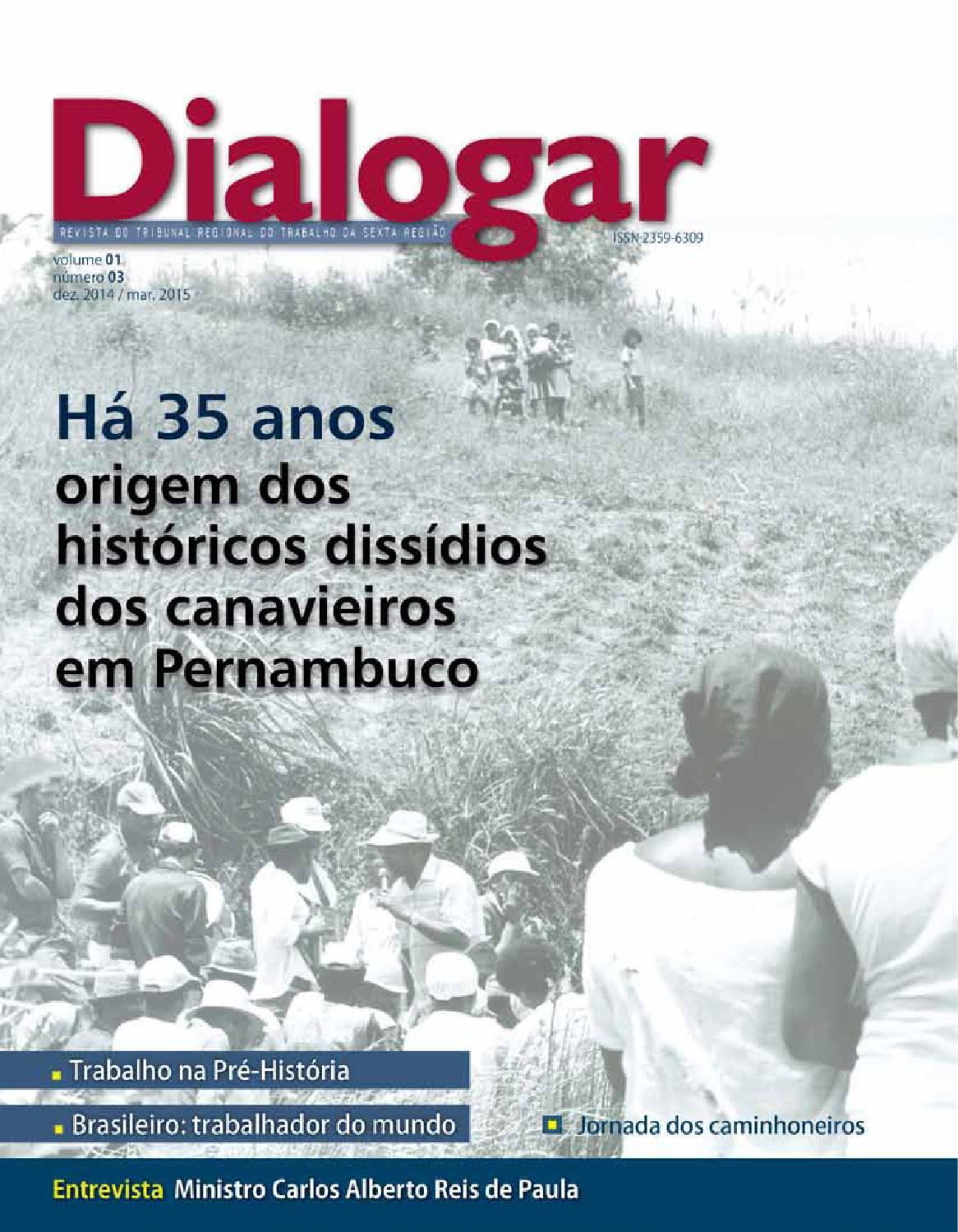 Amelinha Lilith revista dialogar n 03 trt6tribunal regional do trabalho