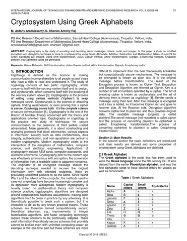 an analysis of the mathematical codes in the study of enciphering and encoding Performance analysis of linear block code, convolution code and concatenated code to study their comparative effectiveness wwwiosrjournalsorg 54 |page.
