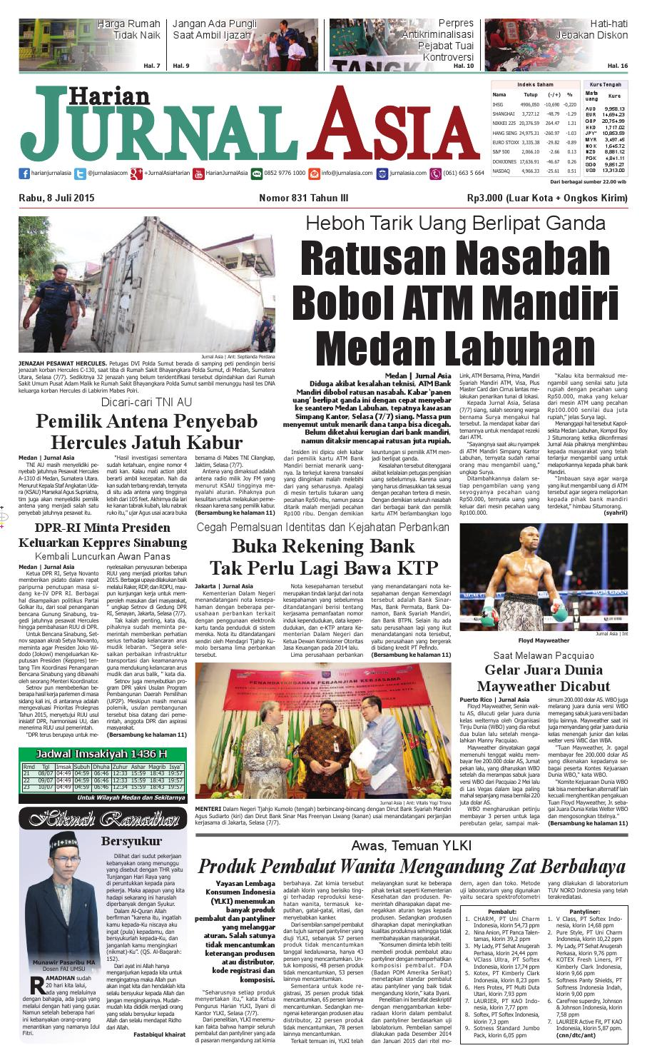 harian jurnal asia edisi rabu, 08 juli 2015 by harian jurnal asiaharian jurnal asia edisi rabu, 08 juli 2015 by harian jurnal asia medan issuu