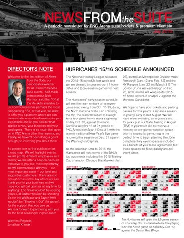 PNC Arena Premium Services Newsletter by Alan - issuu