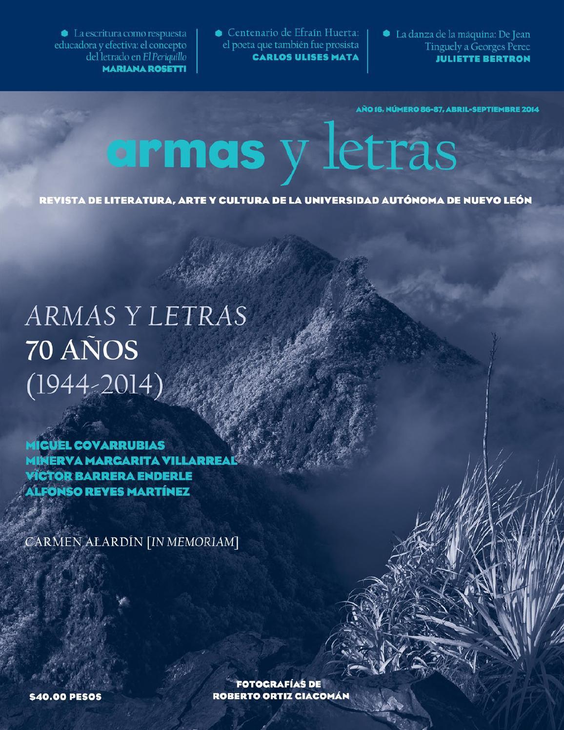 Armas y Letras 86-87 by Revista Armas y Letras - issuu