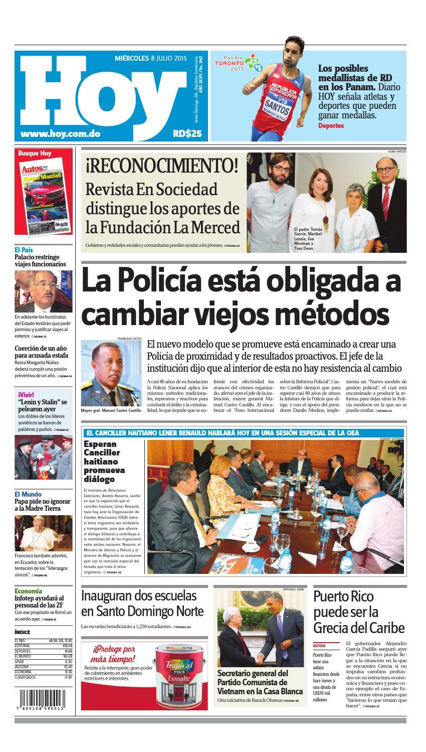 buy popular 387cc 1753b Periódico miércoles 8 de julio, 2015 by Periodico Hoy - issuu
