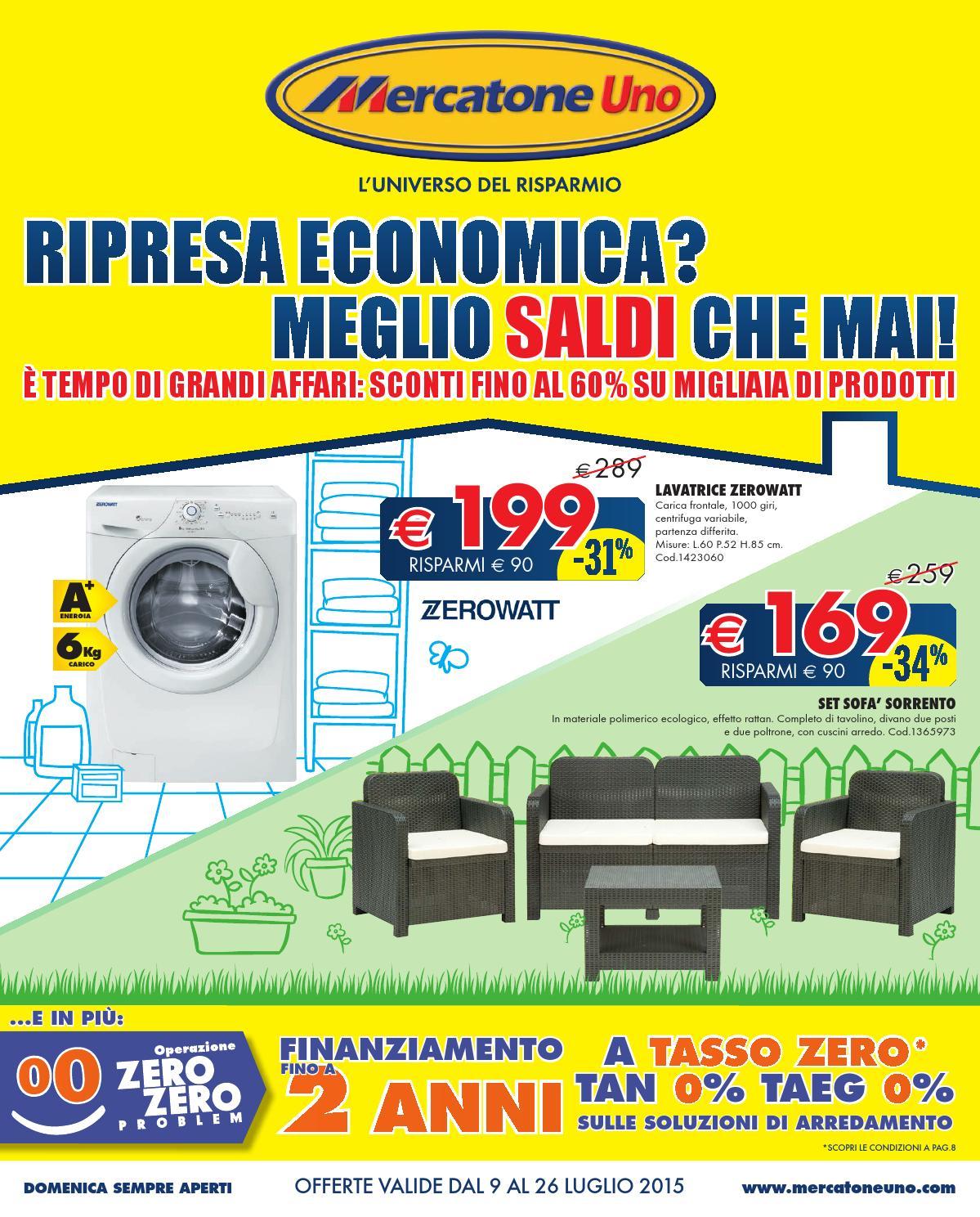 Mercatoneuno catalogo 9 26luglio2015 by catalogopromozioni for Mercatone uno lampadari ventilatori