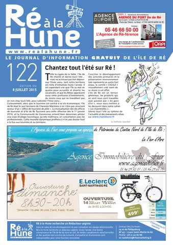 Ré à La Hune N 122 By Rhea Marketing Issuu