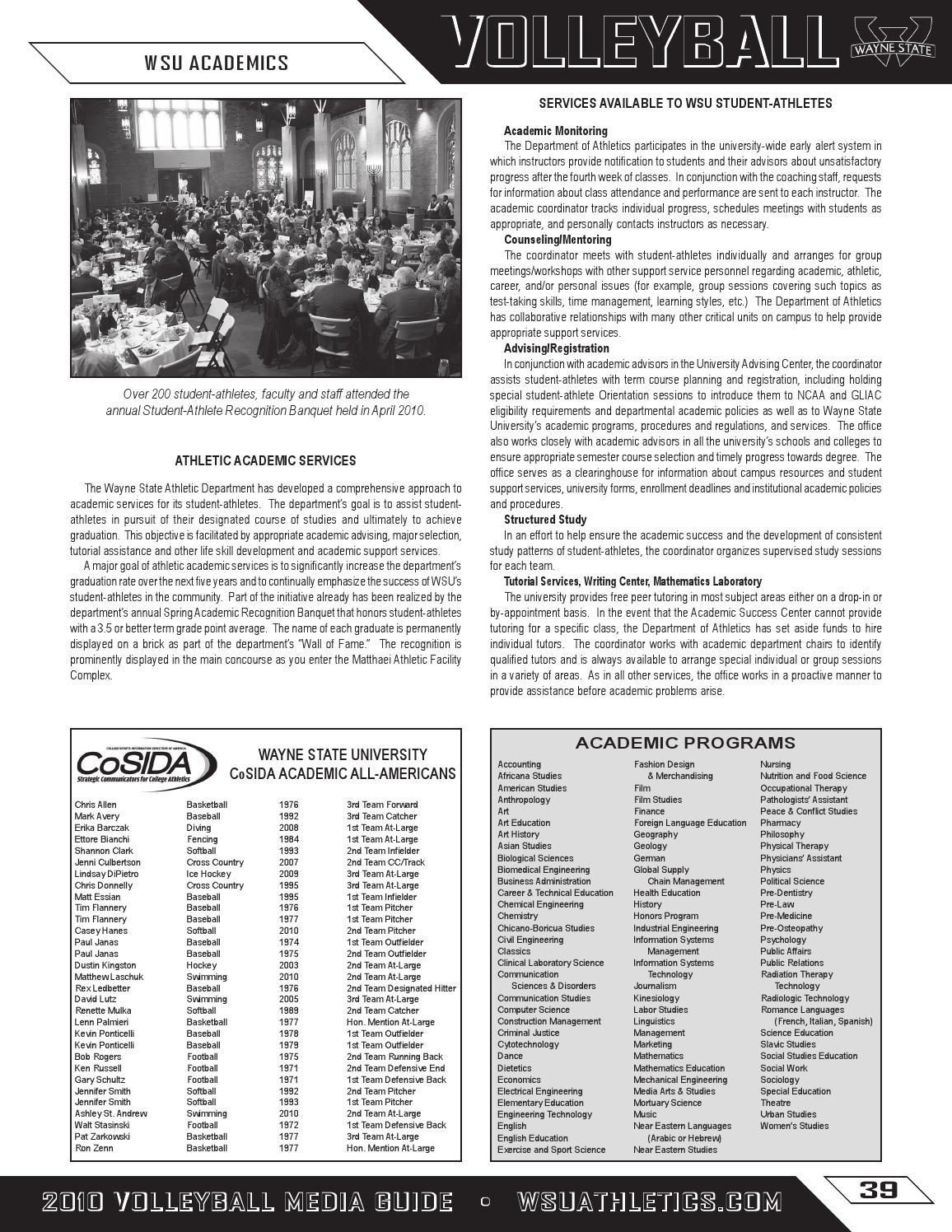 2010 Wayne State University Volleyball Media Guide By Wayne State University Warriors Issuu