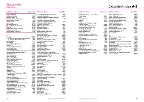 2015 Exhibitor A Z By Beautyworld Middle East Issuu