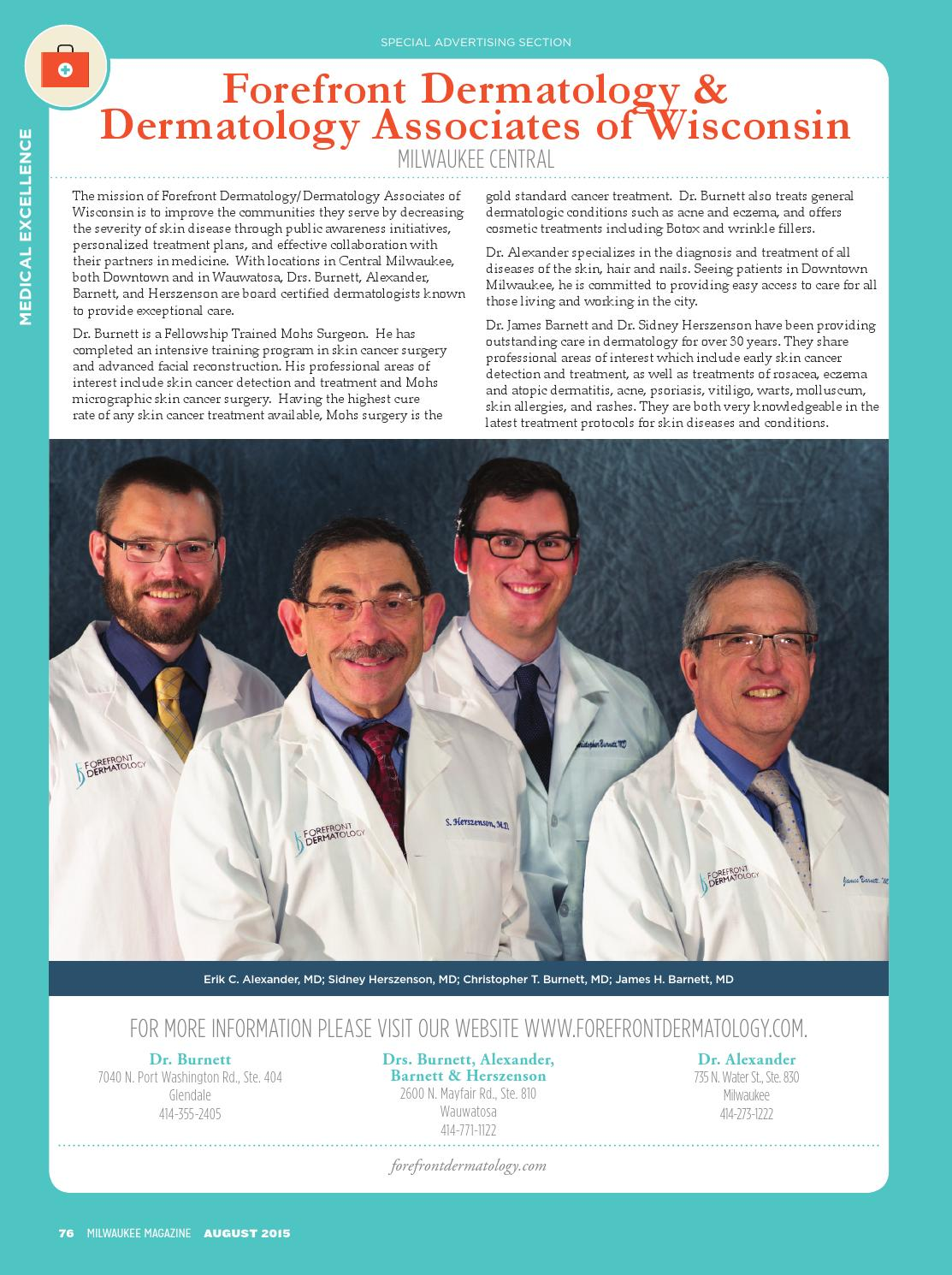 Milwaukee Magazine | Medical Excellence Profiles 2015 by