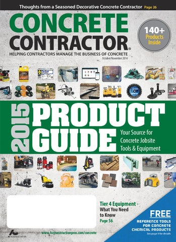 Concrete Contractor Octobernovember 2014 By Forconstructionproscom