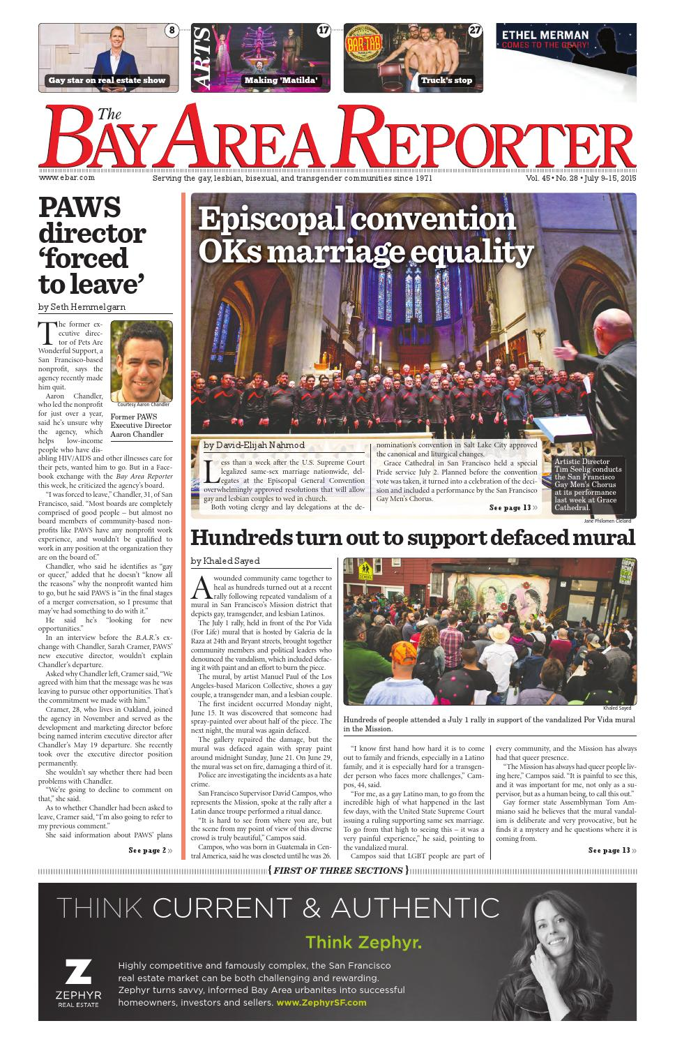 July 9, 2015 Edition of the Bay Area Reporter
