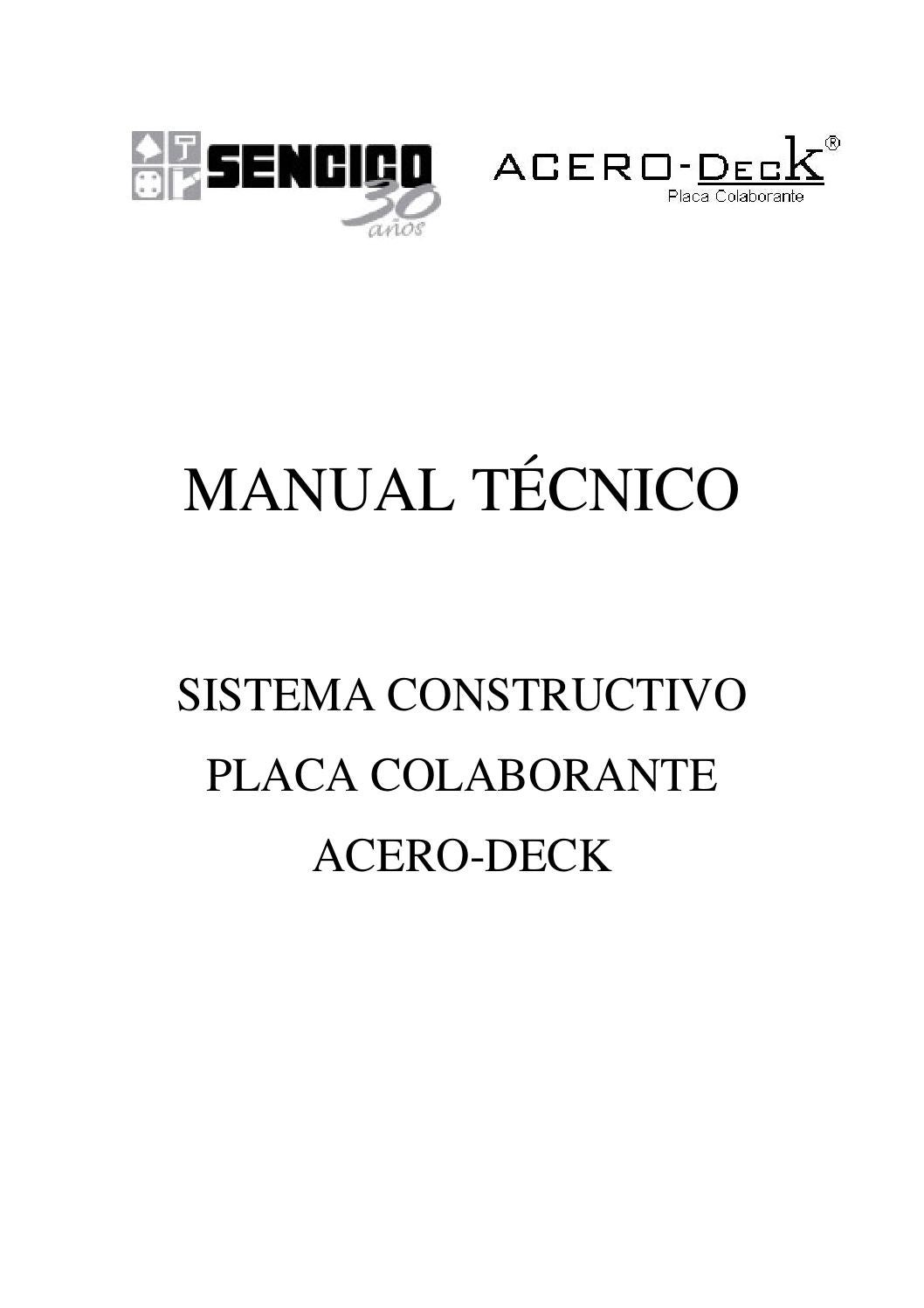 Manual acero deck perú by Chimbote Mind Project - issuu