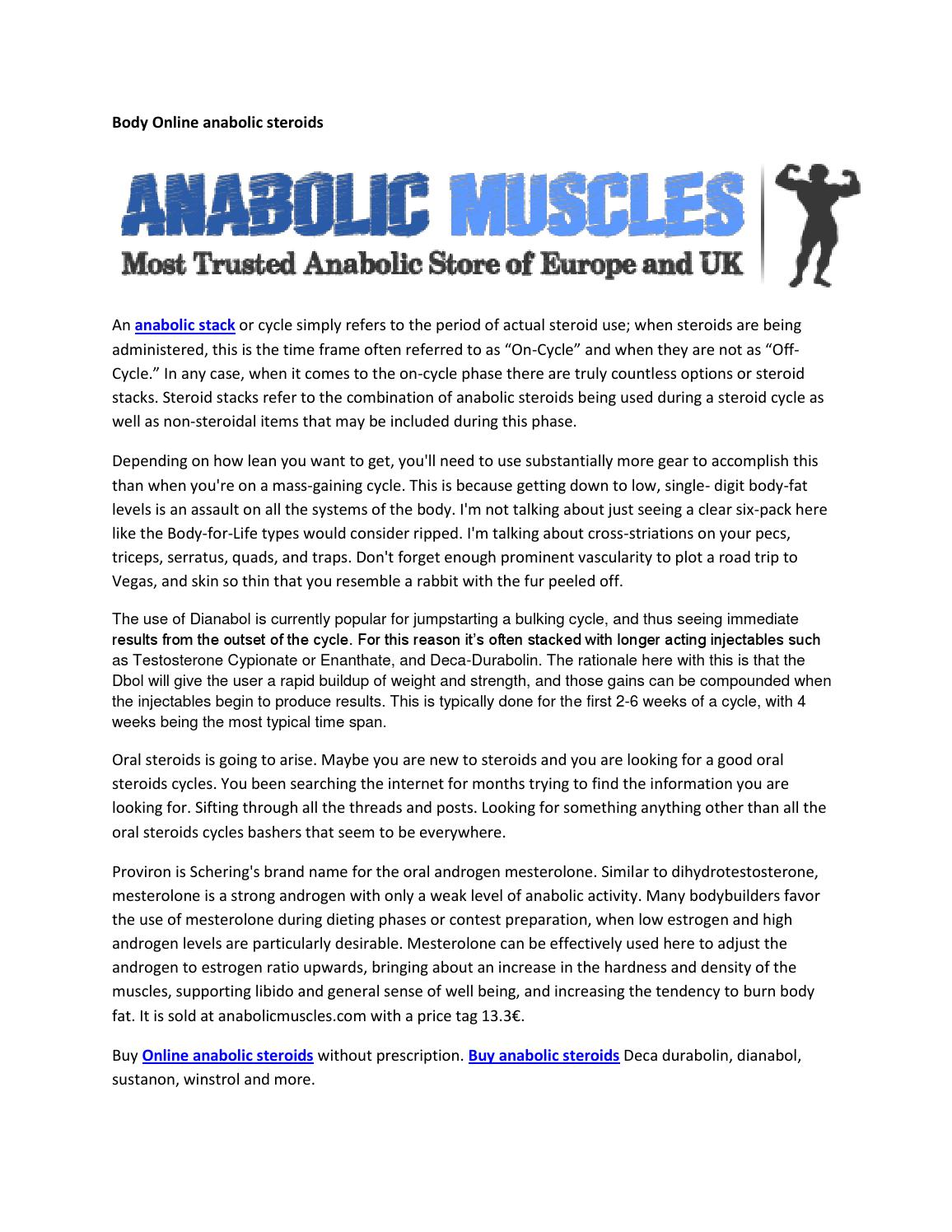 Body online anabolic steroids by anabolicmuscles02 - issuu