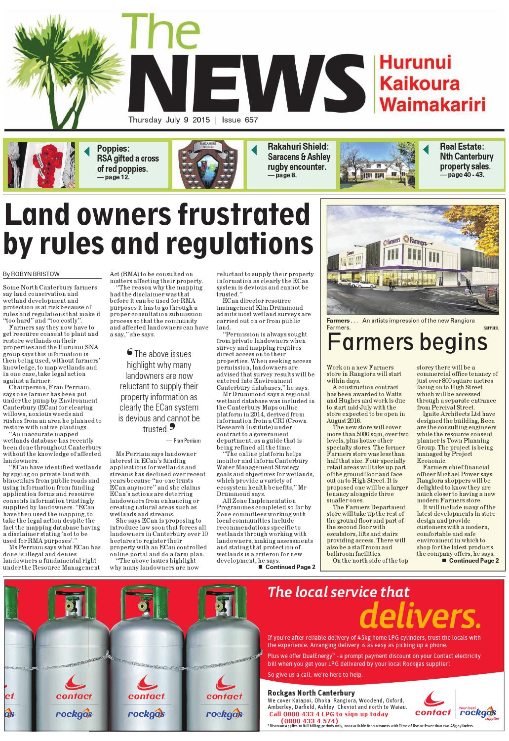 The News North Canterbury 09-07-15
