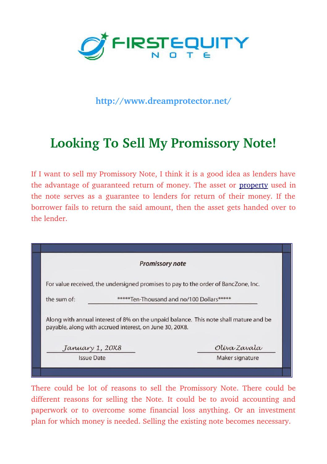 selling a promissory note