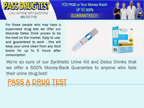 How to Pass a Drug Test by Pass a Drug Test - issuu