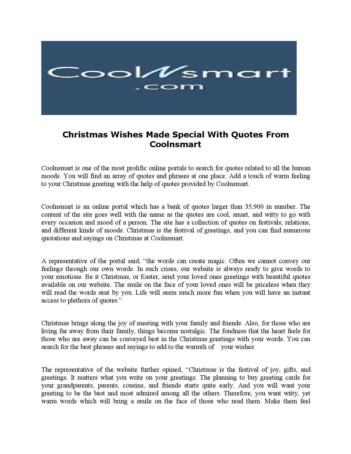 christmas wishes made special quotes from coolnsmart by