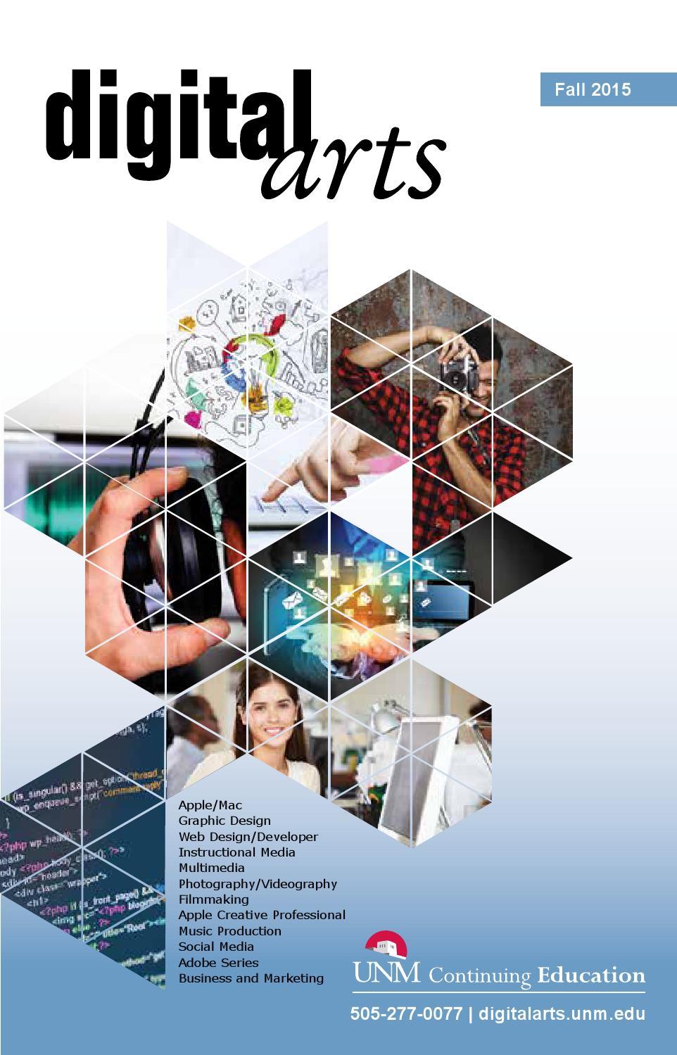 Digital Arts Fall 2015 Catalog Unm Continuing Education By Unm Continuing Education Issuu