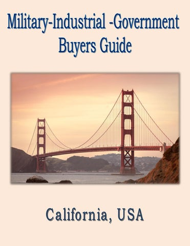 Military Industrial Government Buyers Guide for California
