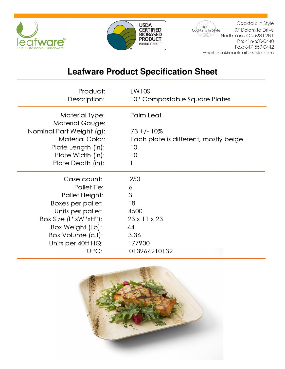 leafware product specification sheets by cocktails in. Black Bedroom Furniture Sets. Home Design Ideas