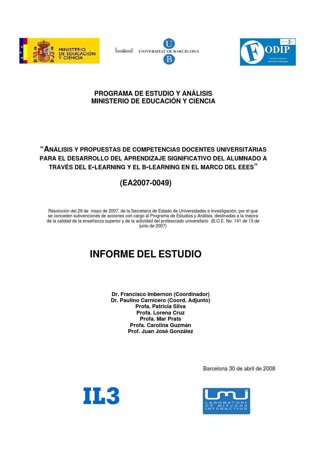 Análisis y propuestas de competencias docentes universitarias by ...