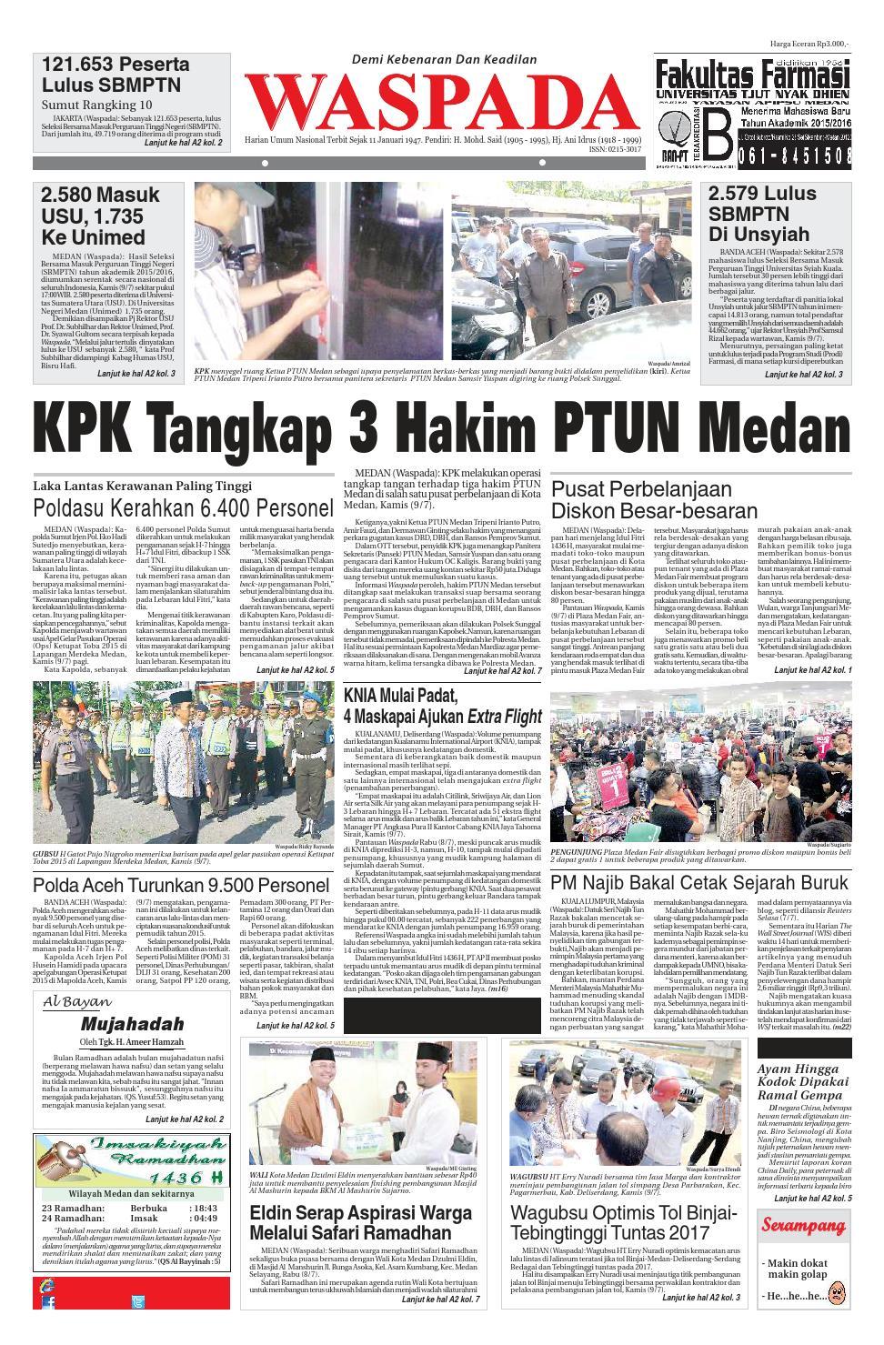 Waspada, jumat 10 juli 2015 by Harian Waspada - issuu