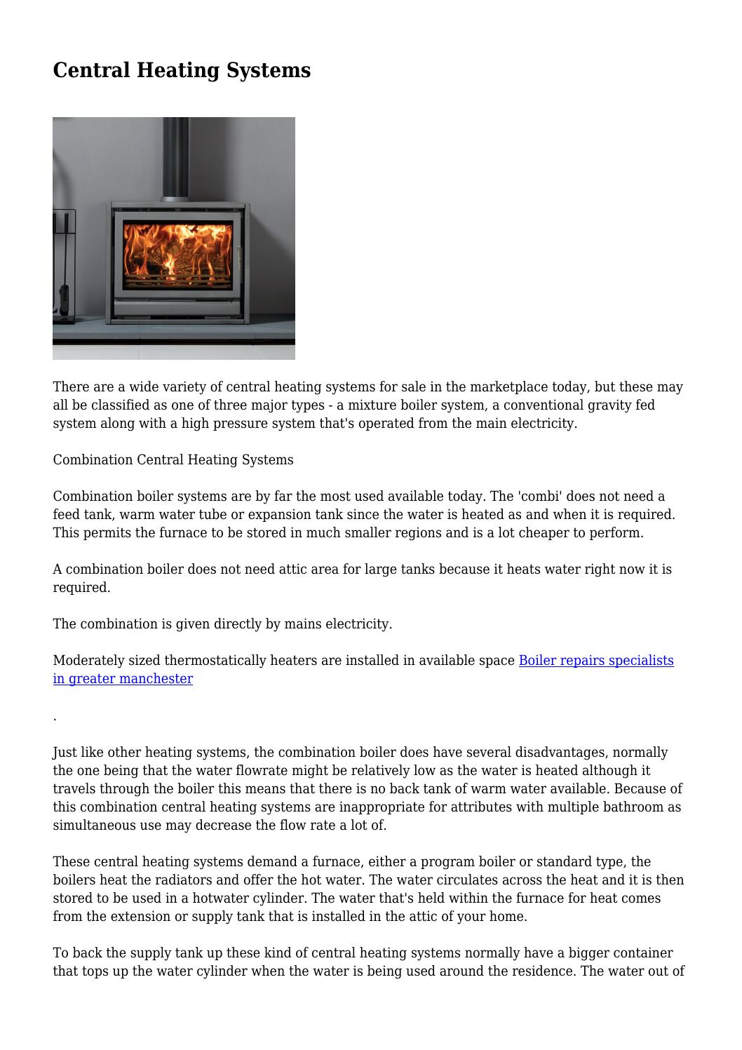 Central heating systems by Best central heating system
