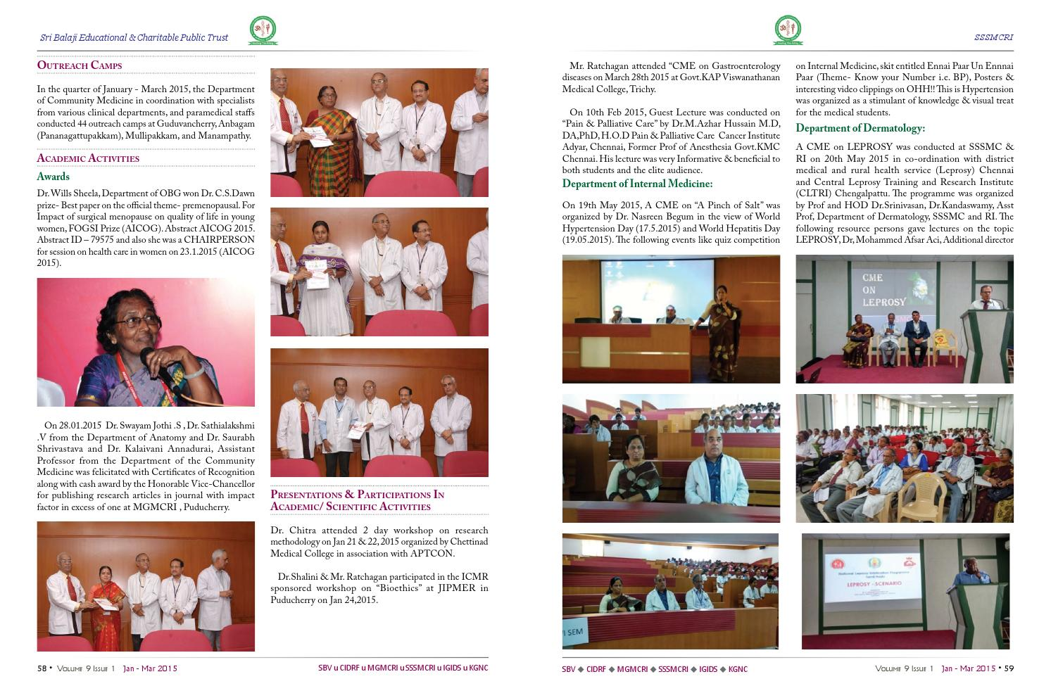 The chronicle vol9 iss1 jan mar 2015 by Dept of Medical
