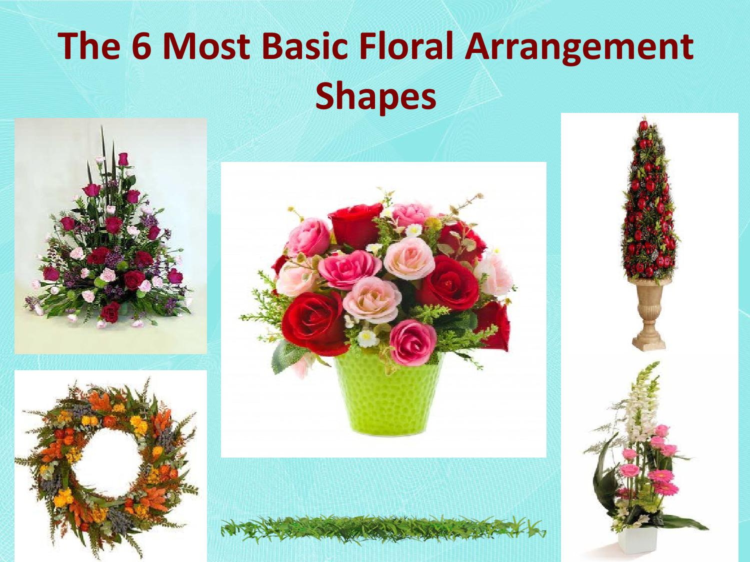 The 6 Most Basic Floral Arrangement Shapes By