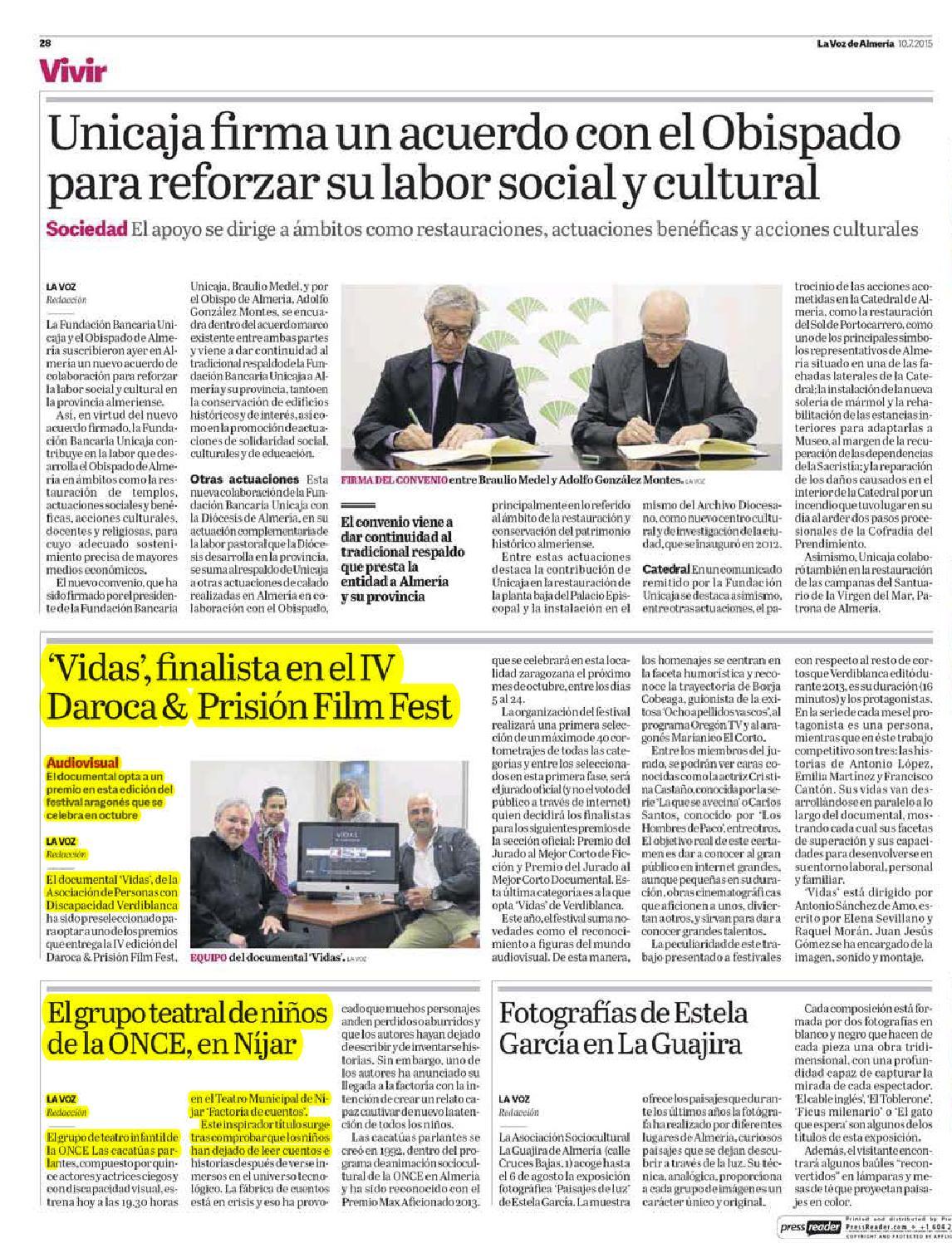 Dossier Prensa Discapacidad 9 10 Julio By Asociaci N Verdiblanca  # Muebles Rendon Barbate