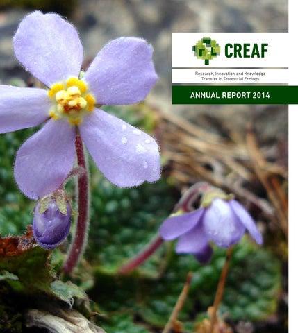 Memoria CREAF 2014 by CREAF - issuu