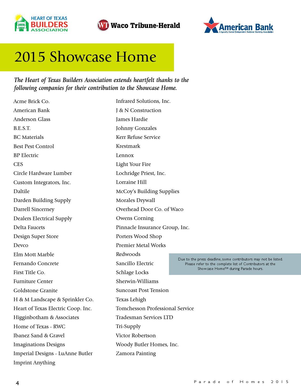 Waco Parade Of Homes Magazine 2015 By Internet