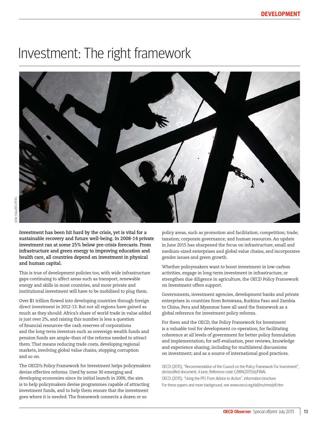 OECD Observer Special Offprint July 2015 Spotlight