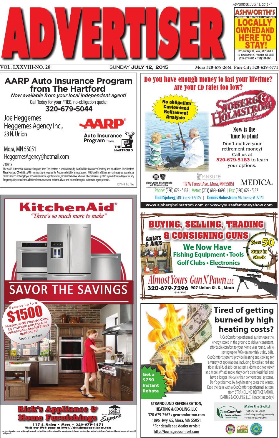 Mora Advertiser 71215 by Kanabec County Times/Pine City