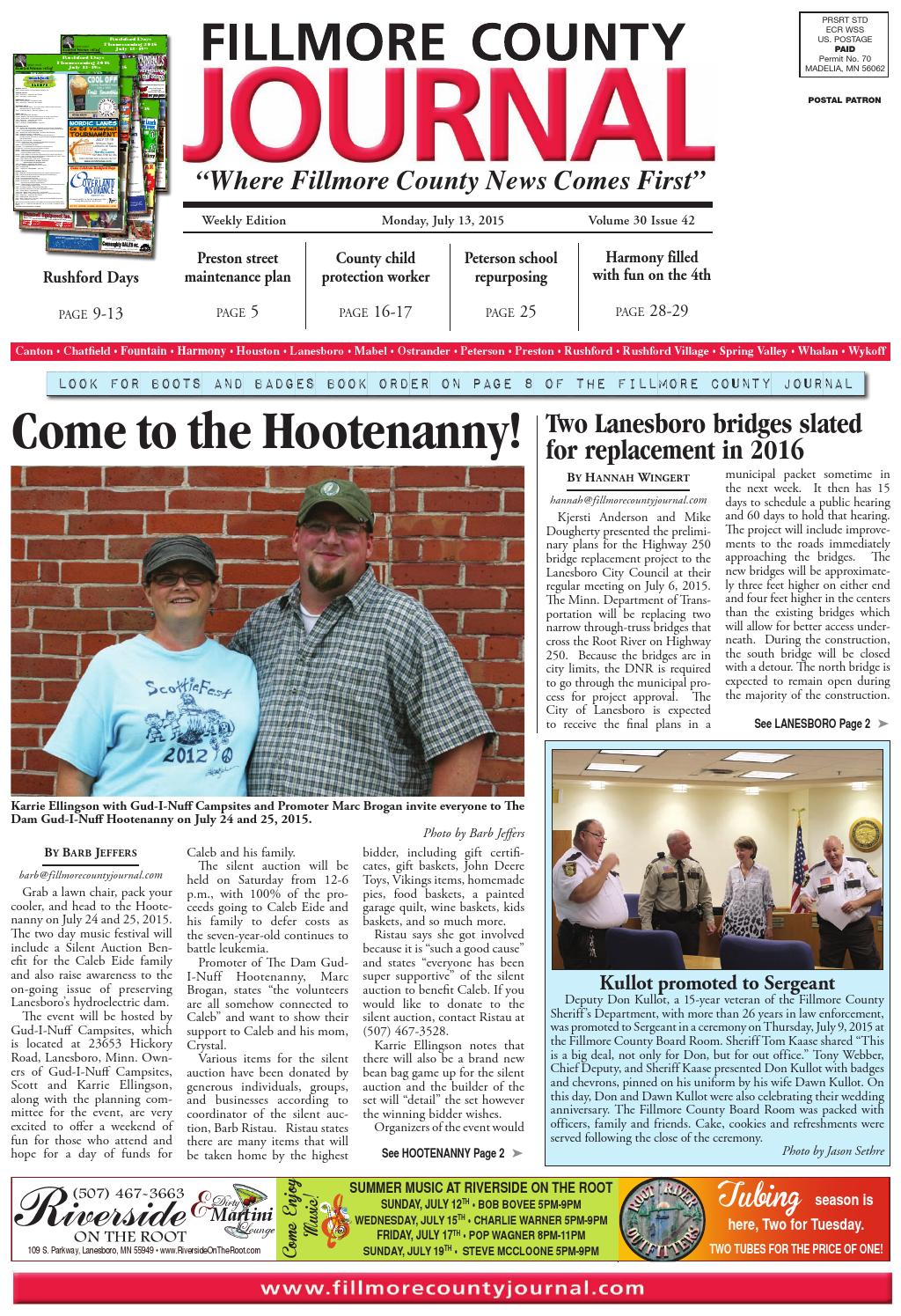 4d0813a25 Fillmore County Journal - 7.13.15 by Jason Sethre - issuu