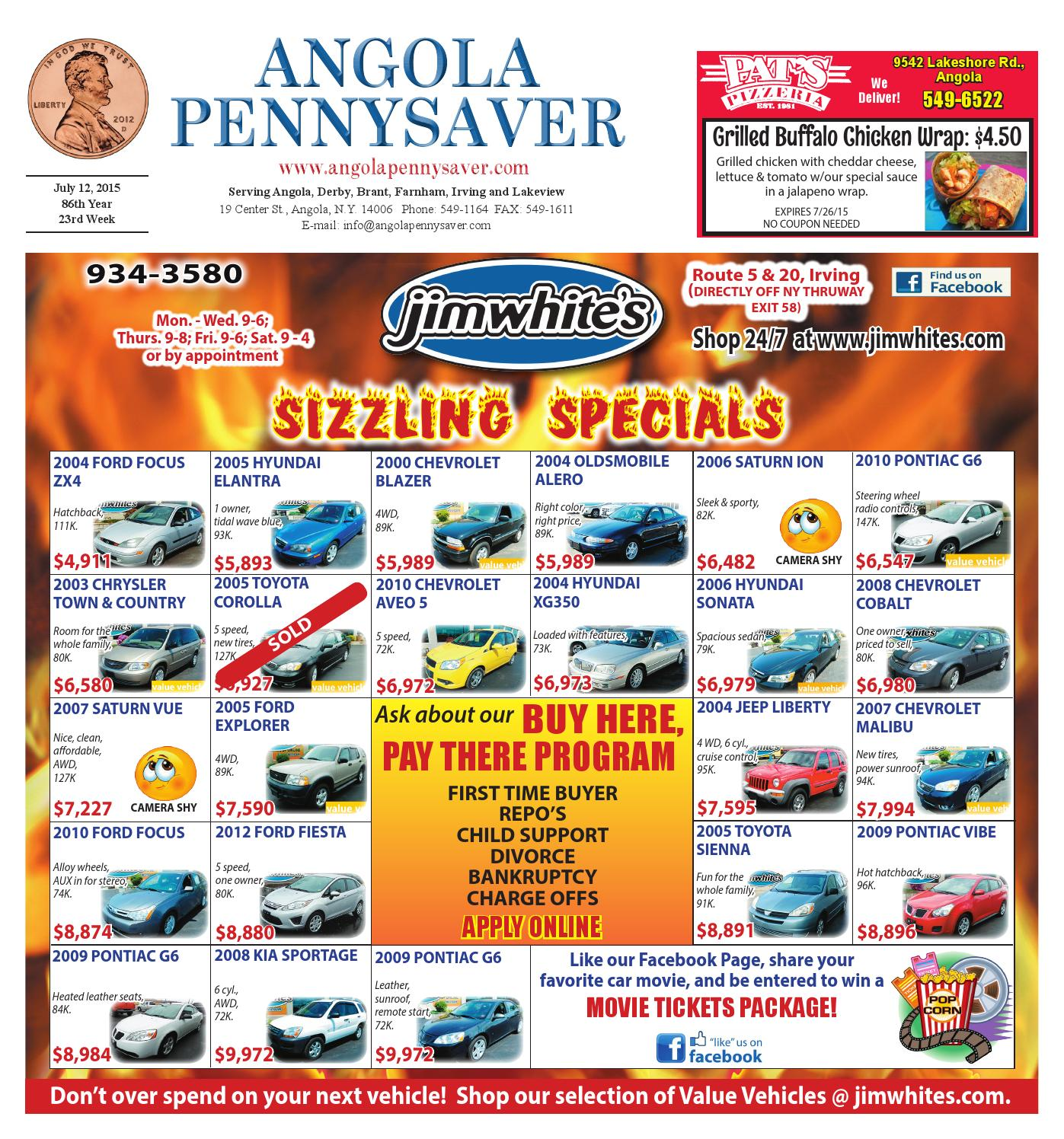 7 12 15 Angola Pennysaver By Issuu Peterson Fuel Filters
