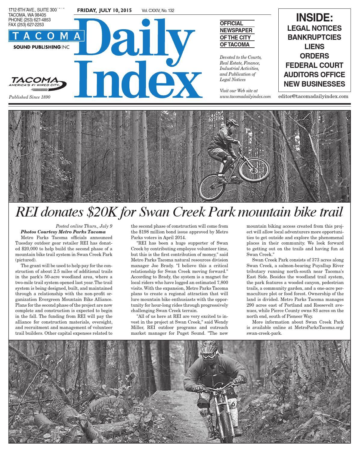 Tacoma Daily Index July 10 2015 By Sound Publishing Issuu