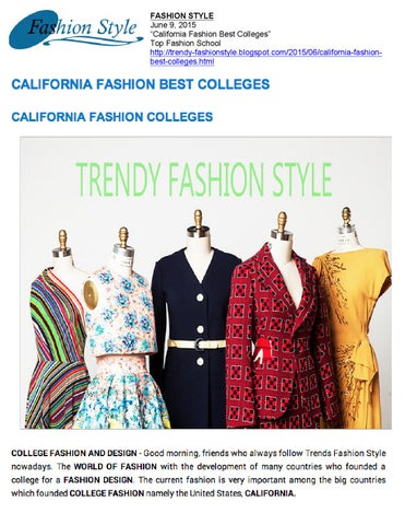 74872bdbdda7 06 09 2015 Fashion Style by Academy Of Art University School of ...