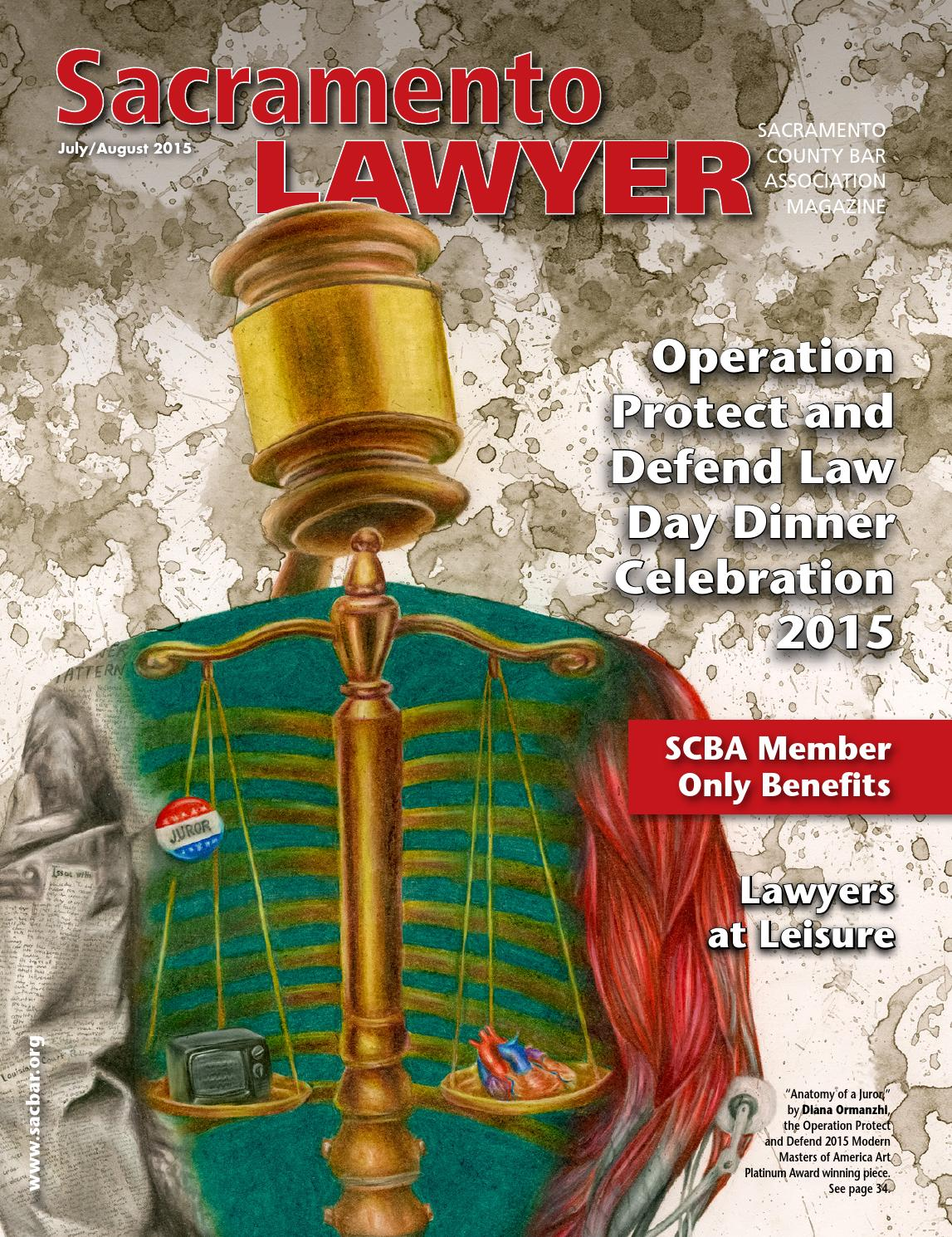 Captain Jack Lounge Stoel.Sacramento Lawyer Magazine By Sacramento County Bar Association