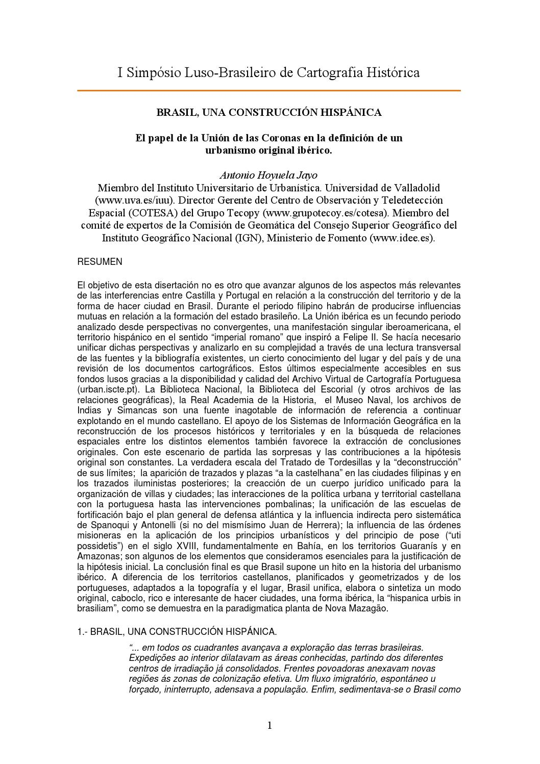 Brasil como construcción hispanica riodejaneiro by José Antonio ...