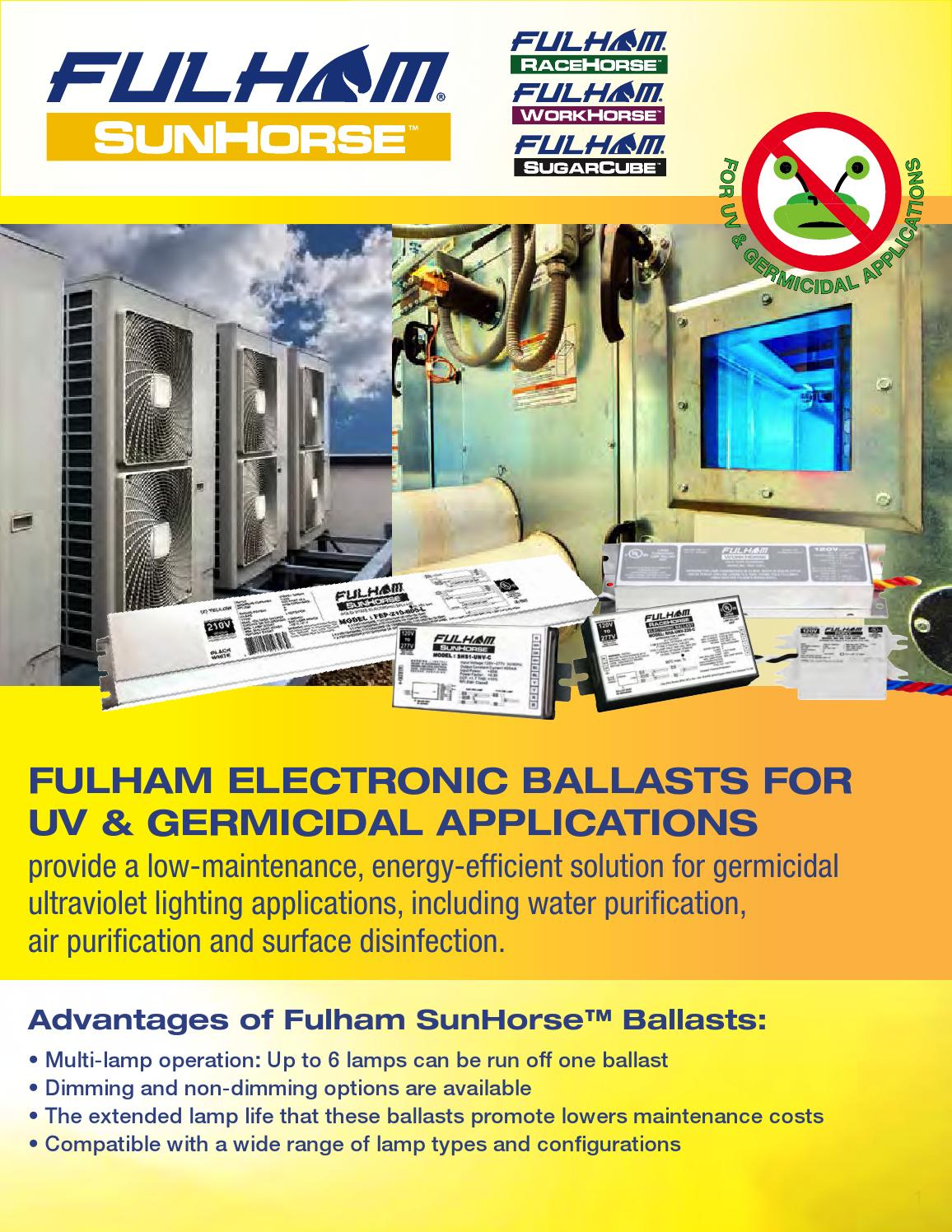 Fulham Electronic Ballasts For Germicidal Uv Ultraviolet Ballast Wiring Diagram Applications By Co Inc Issuu
