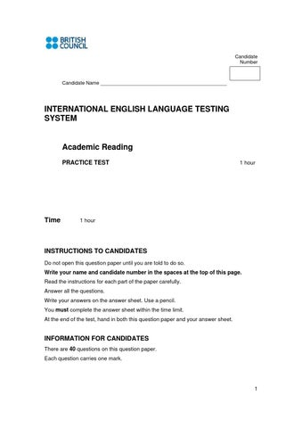Reading practice 1 ielts academic questions (1) by carlos garcia - issuu