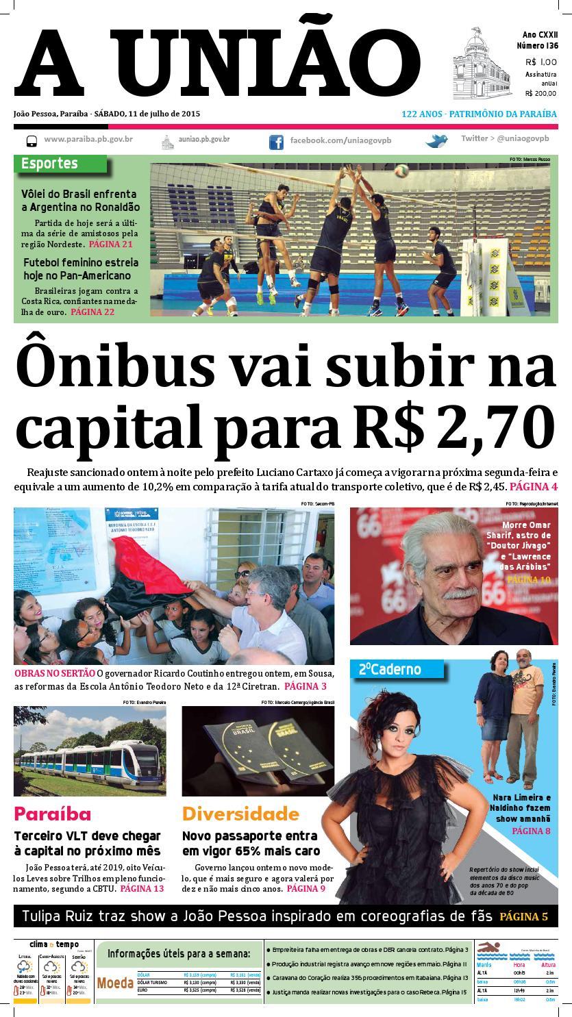 Jornal A União - 11 07 2015 by Jornal A União - issuu 235db96dbf61b