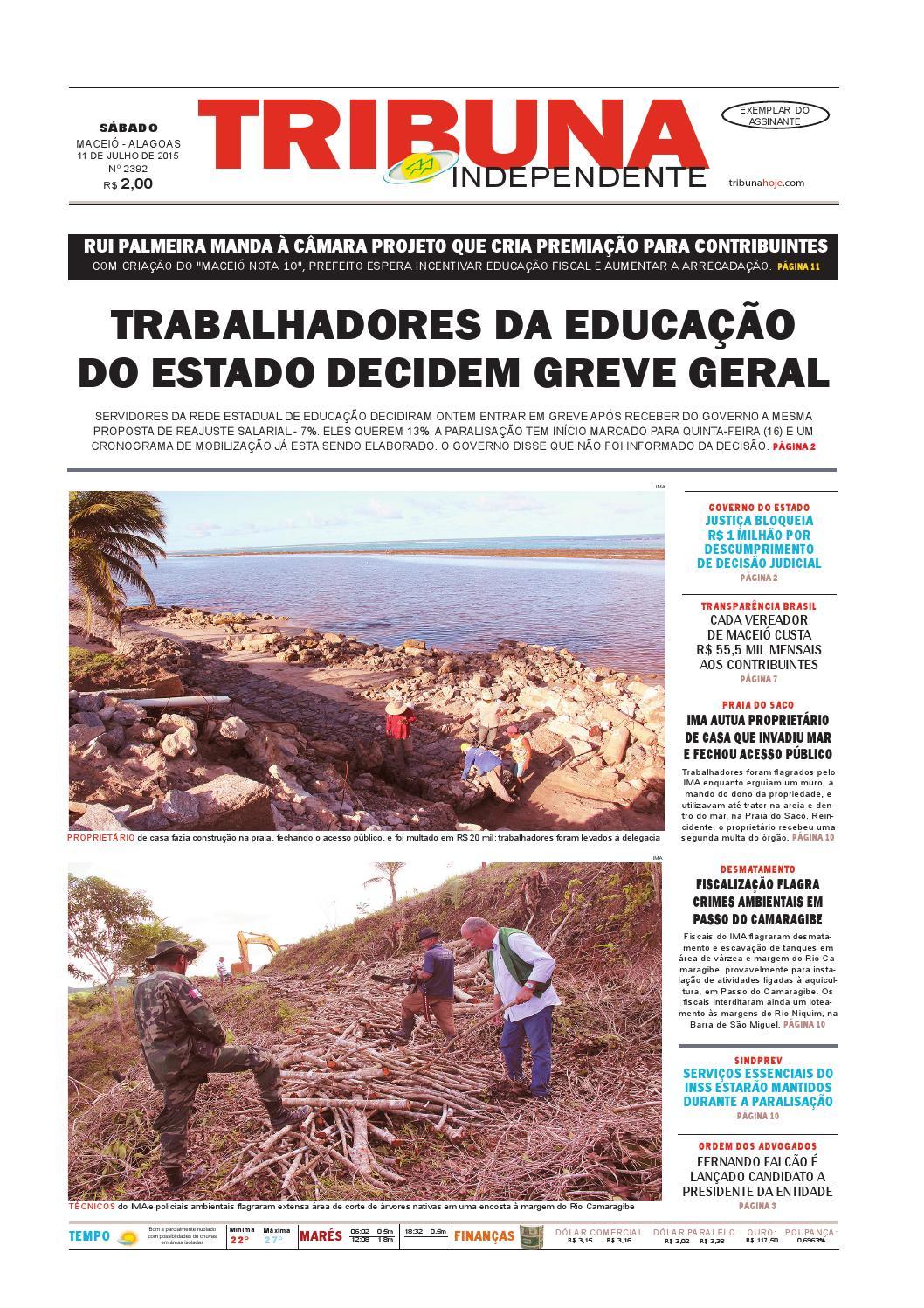 70677fc9e67 Edição número 2392 - 11 de julho de 2015 by Tribuna Hoje - issuu