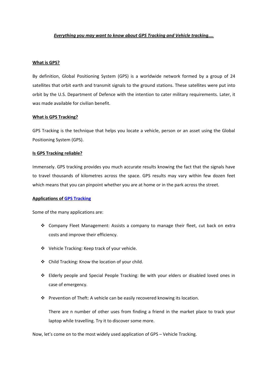 gps tracking and vehicle tracking by shalini madan - issuu