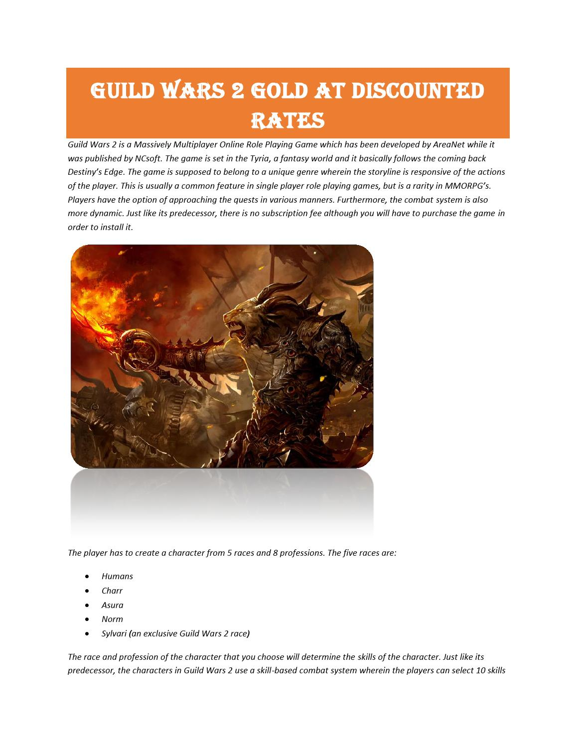 Guild wars 2 gold at discounted rates by Alexander Queen - issuu