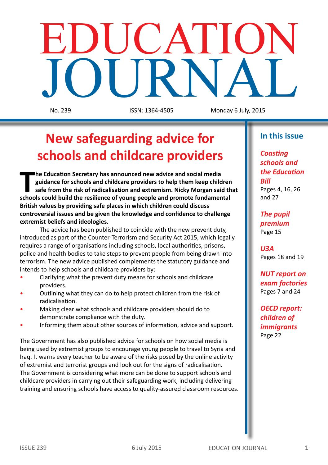 Education Journal No. 239 by publicinterventionus - Issuu