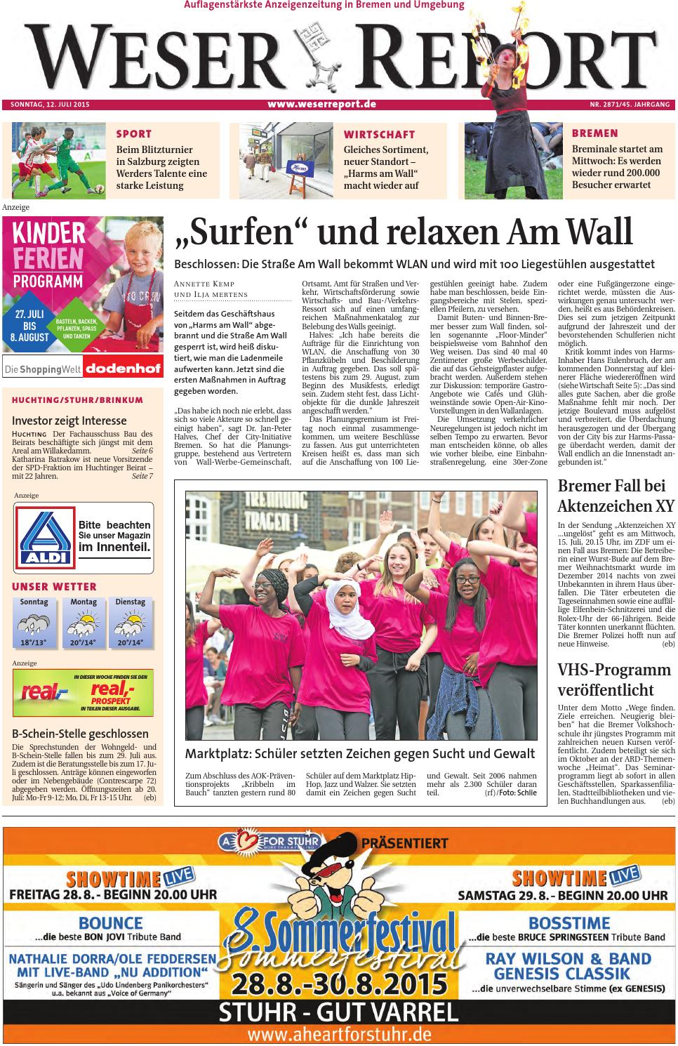 Weser Report Huchting Stuhr Brinkum vom 12.07.2015 by KPS
