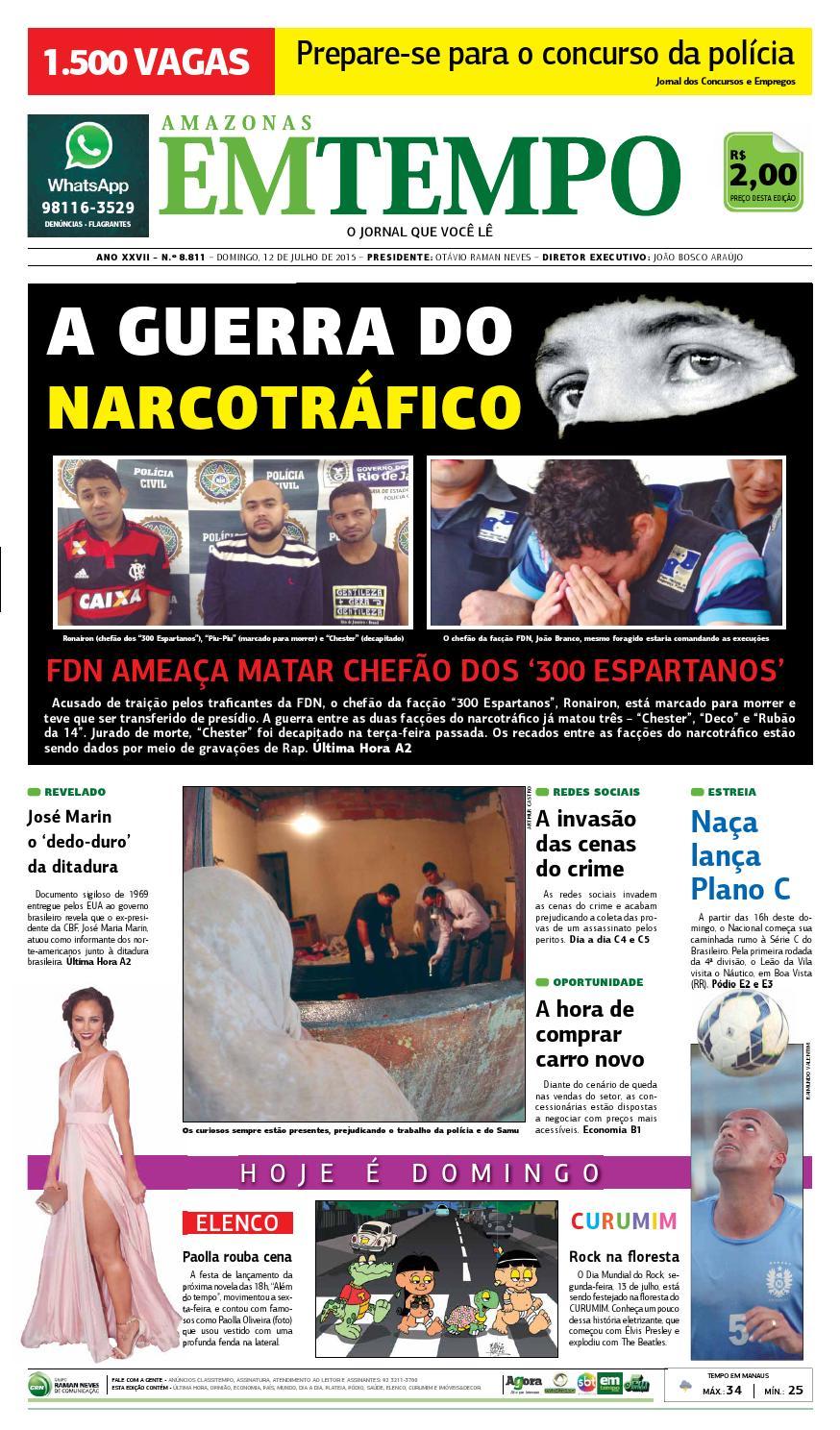 dbf55bcb0e6 EM TEMPO - 12 de julho de 2015 by Amazonas Em Tempo - issuu