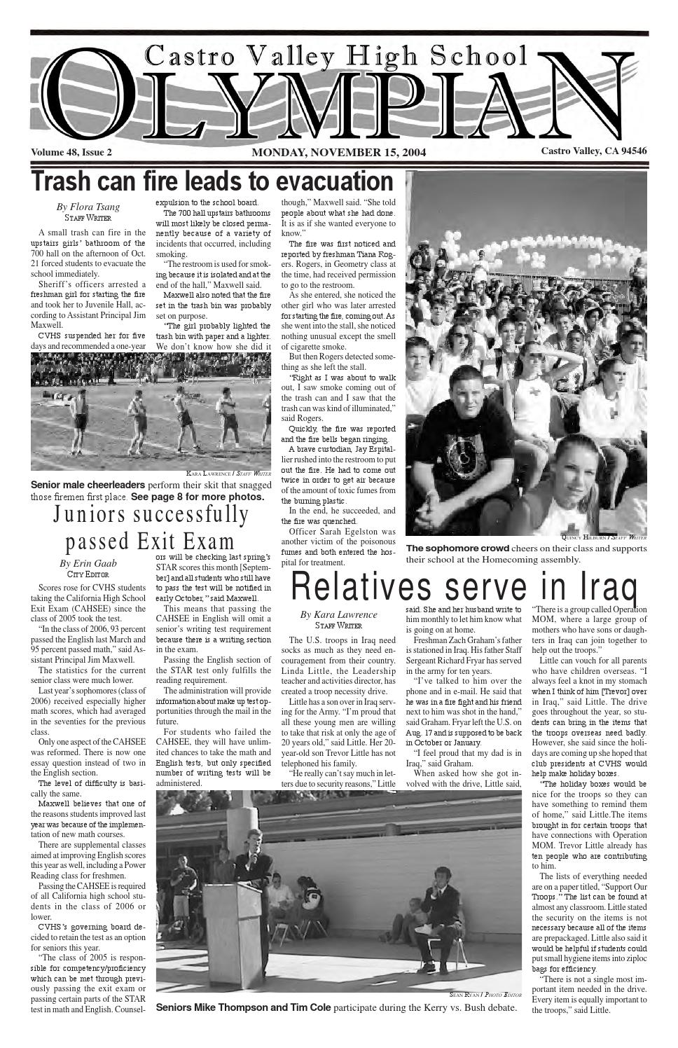 Nov 15, 2004 by The Castro Valley High School Olympian - issuu